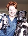 Ali Duever, veterinary technician at All Creatures Great and Small Veterinary Clinic in Corvallis, Oregon.