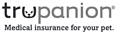 Trupanion logo on the Resources page of the All Creatures Great and Small Veterinary Clinic website.