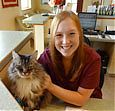 Emily Carter is a receptionist at All Creatures Great and Small Veterinary Clinic in Corvallis, Oregon.
